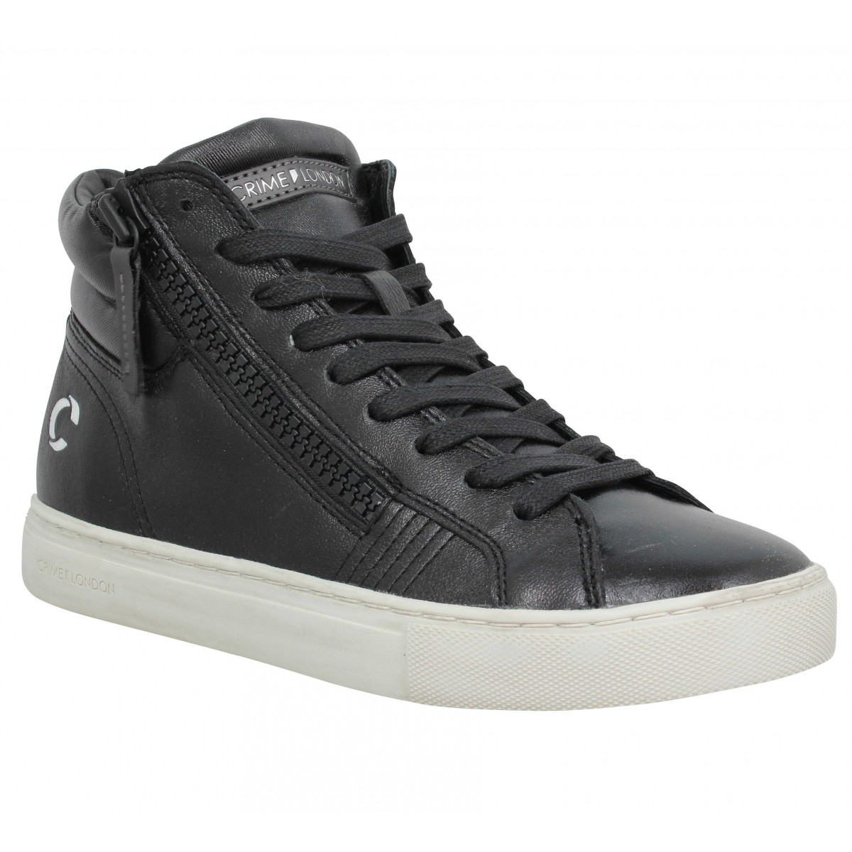 Baskets CRIME LONDON Java Hi cuir Femme Black Black