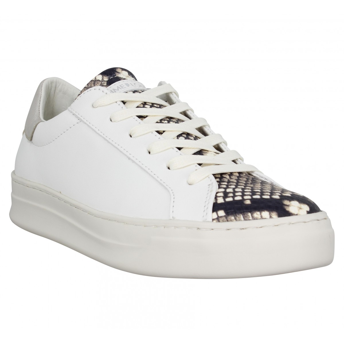 Baskets CRIME LONDON Sonik cuir Femme Blanc