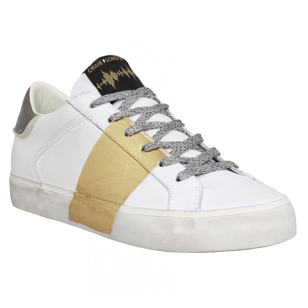 Crime Marque London Low Top Distressed...