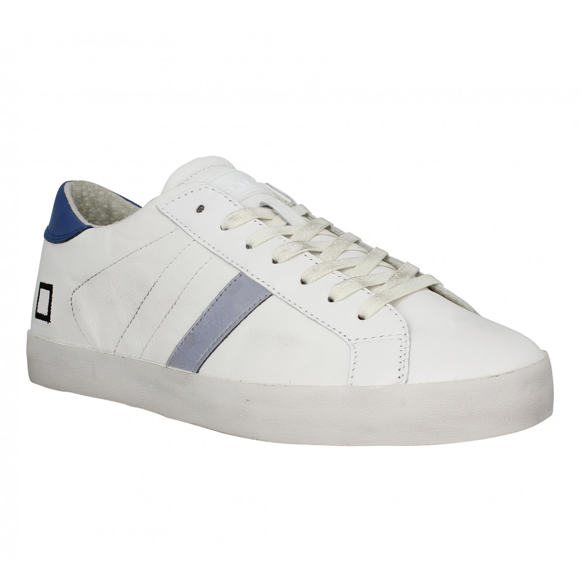 Baskets D.A.T.E Hill Low cuir Homme Blanc
