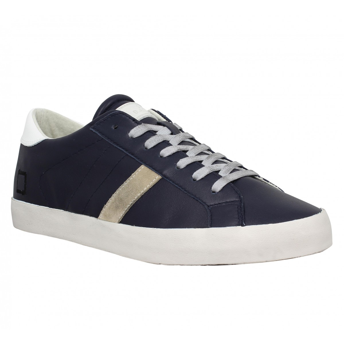 Baskets D.A.T.E Hill Low cuir Homme Bleu