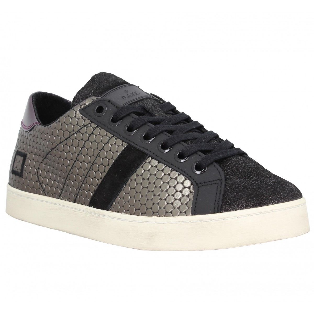 Baskets D.A.T.E Hill Low Pong cuir Femme Metal