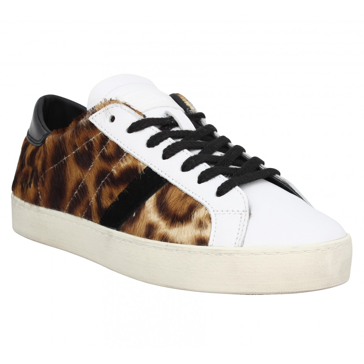 Baskets D.A.T.E Hill Low pony Femme Leopard