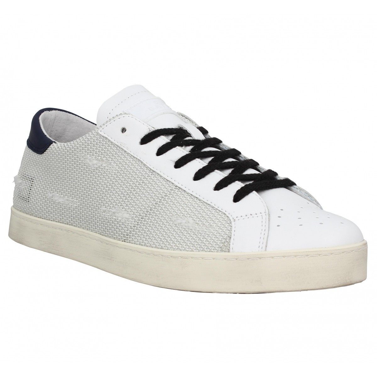 Baskets D.A.T.E Hill Low toile Homme Blanc