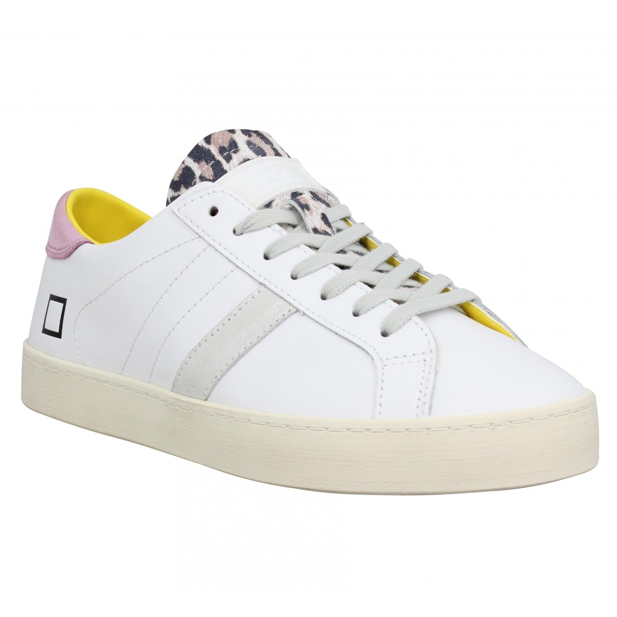 Baskets DATE SNEAKERS Hill Low calf Femme Blanc