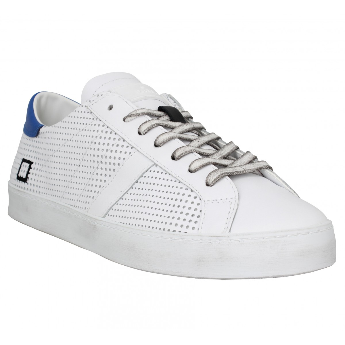 Baskets DATE SNEAKERS Hill Low perforated Homme Blanc