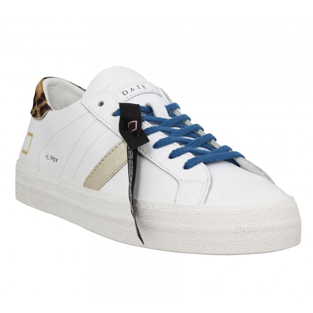 Baskets DATE SNEAKERS Hill Low pony Femme Blanc Platinium