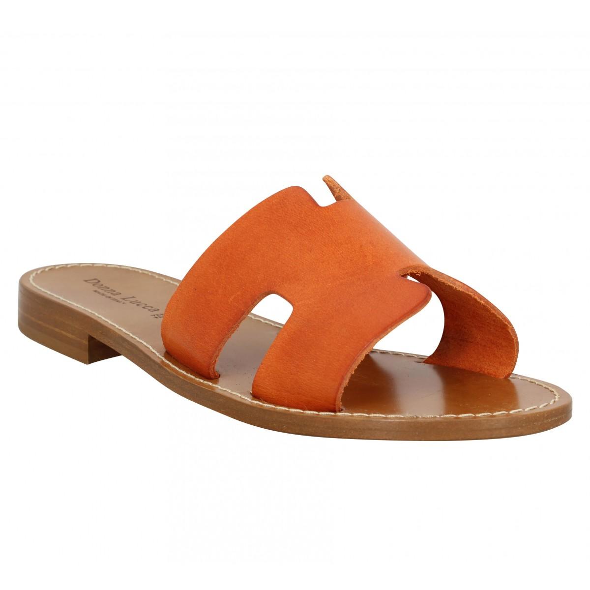 DONNA LUCCA 1031 cuir Femme Orange