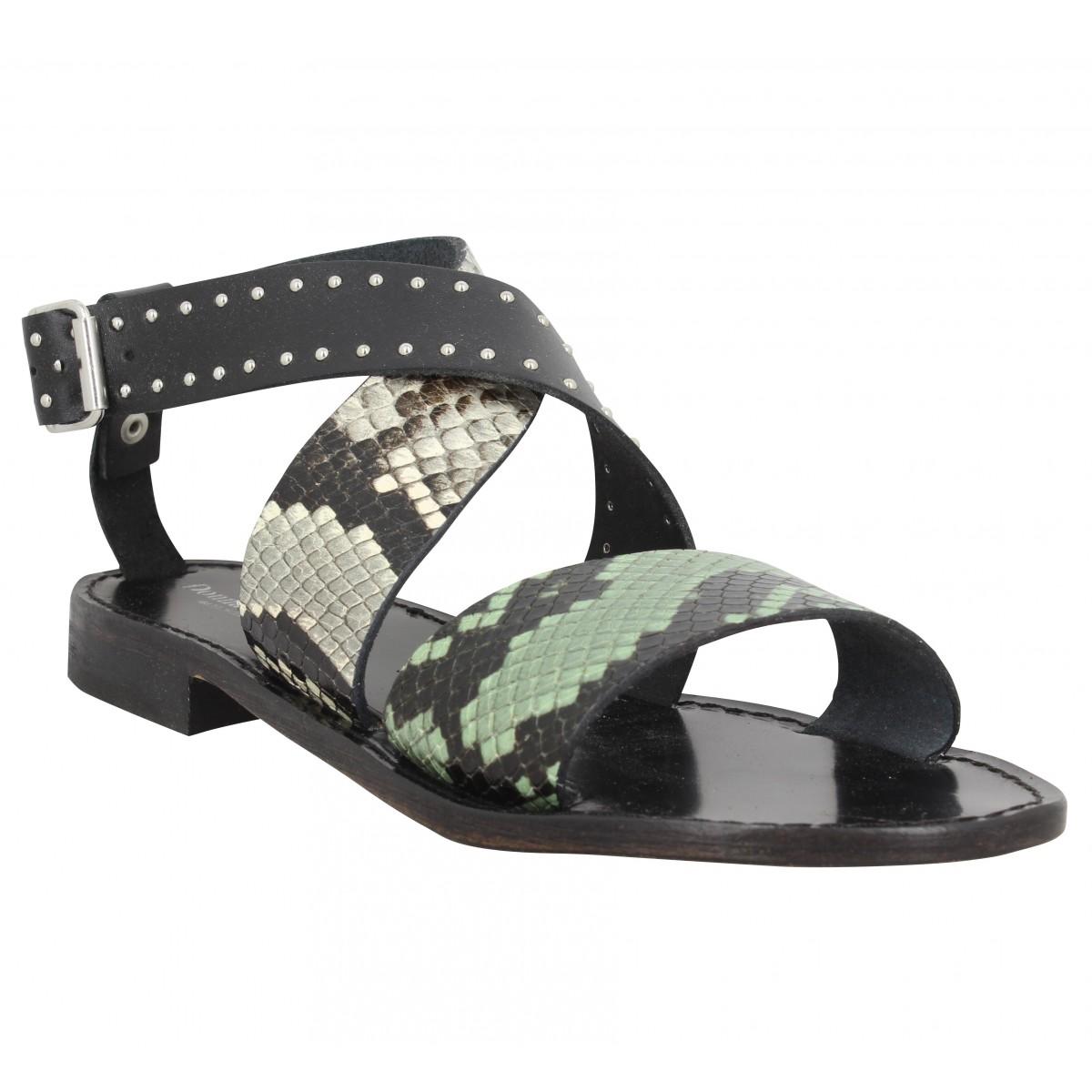 Nu-pieds DONNA LUCCA 1153 reptile Femme Noir