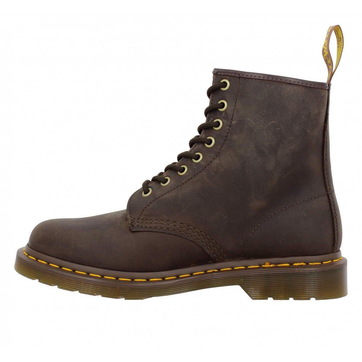 dr martens 1460 cuir gras femme brun fonce fanny chaussures. Black Bedroom Furniture Sets. Home Design Ideas