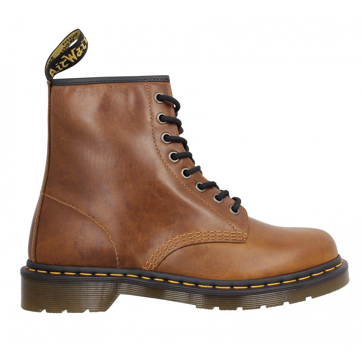 dr martens 1460 cuir homme butterscotch homme fanny chaussures. Black Bedroom Furniture Sets. Home Design Ideas