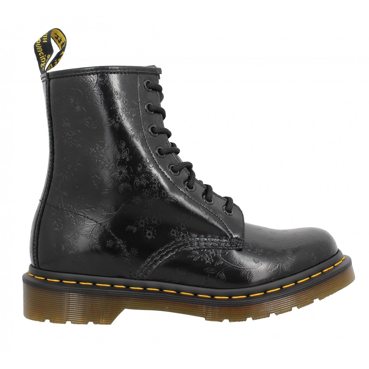 dr martens 1460 flowers femme noir femme fanny chaussures. Black Bedroom Furniture Sets. Home Design Ideas