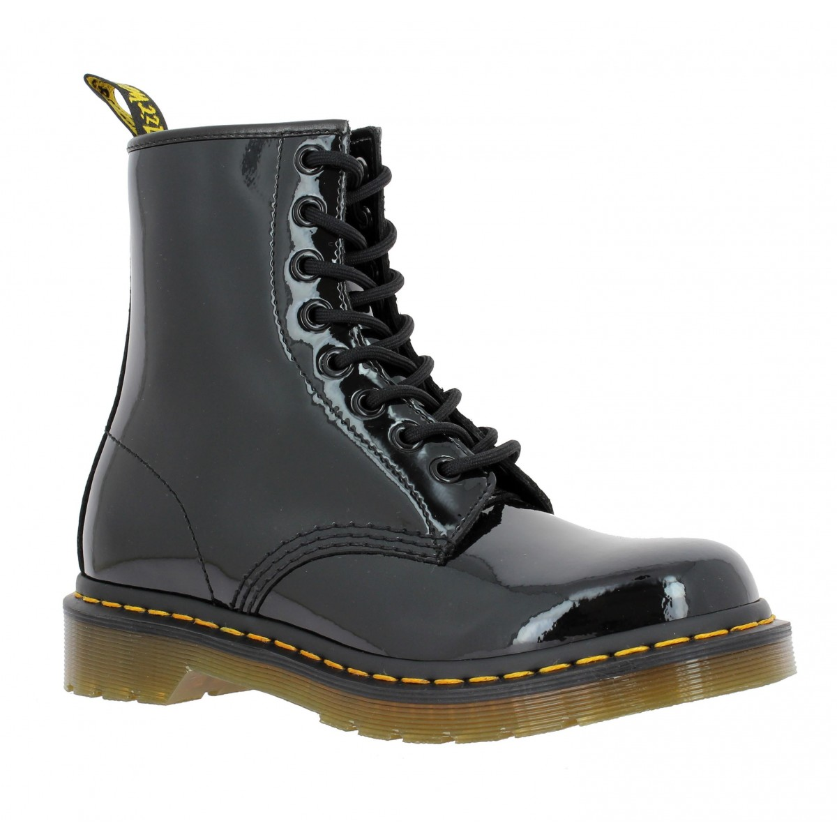 soldes dr martens 1460 vernis femme noir fanny chaussures. Black Bedroom Furniture Sets. Home Design Ideas