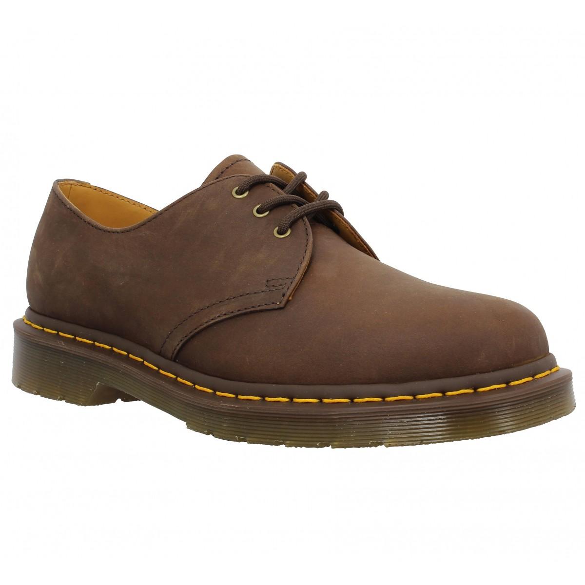 Chaussures à lacets Dr MARTENS 1461 cuir gras Homme Marron
