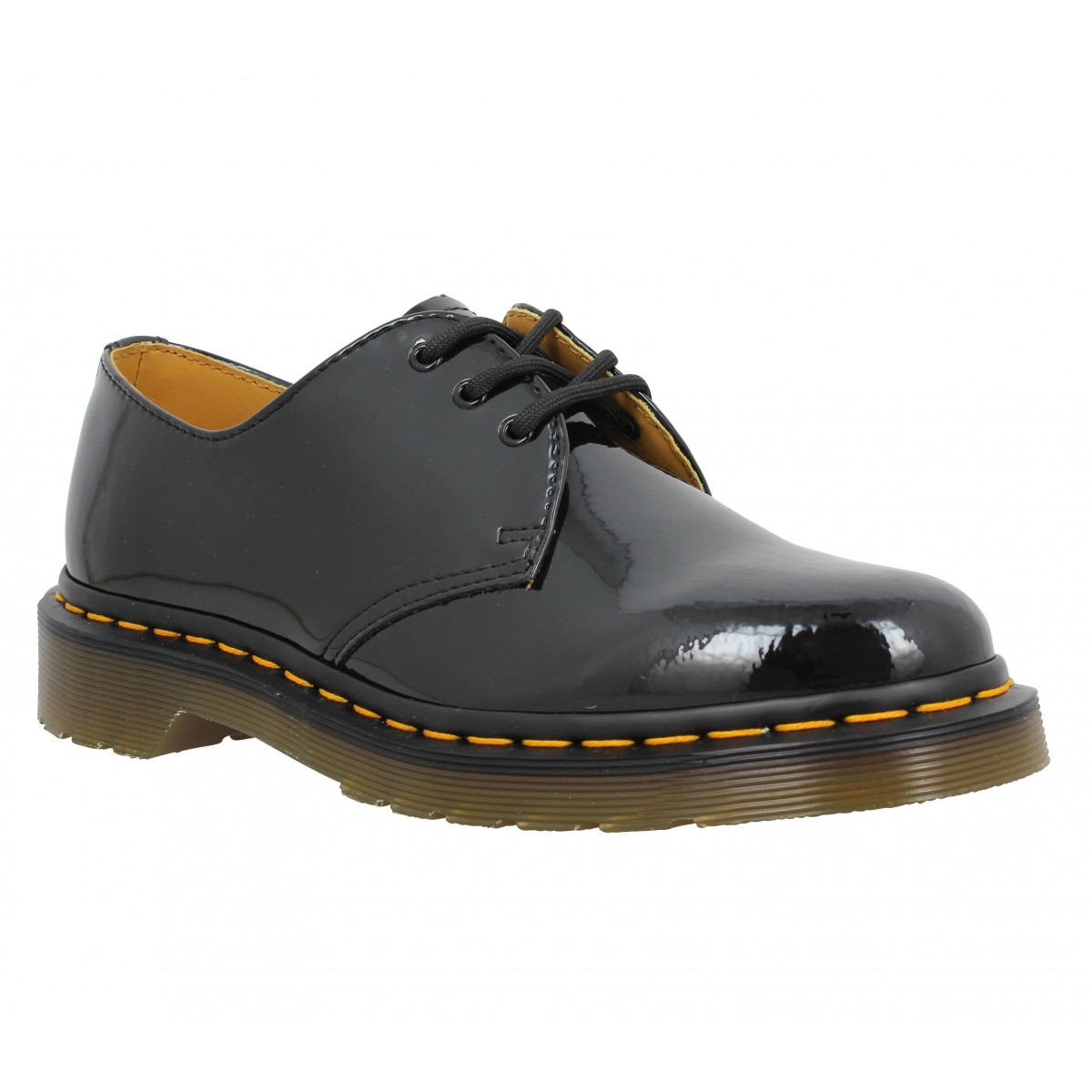 dr martens 1461 vernis femme noir fanny chaussures. Black Bedroom Furniture Sets. Home Design Ideas