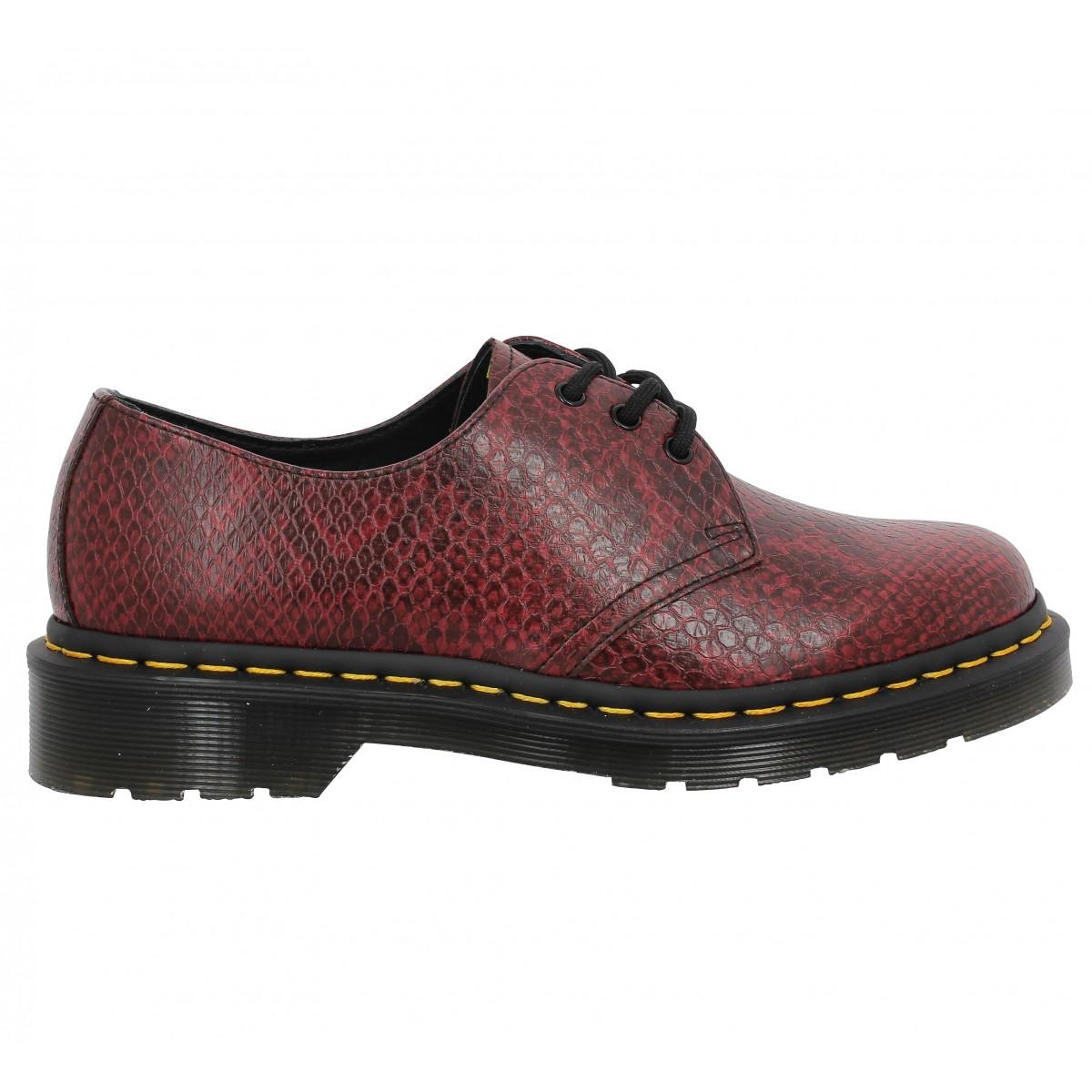 dr martens 1461 viper femme rouge femme fanny chaussures. Black Bedroom Furniture Sets. Home Design Ideas