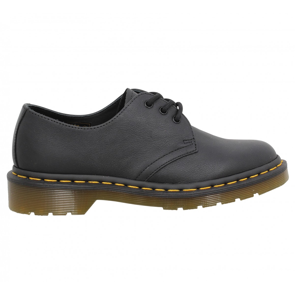 dr martens 1461 virginia femme noir femme fanny chaussures. Black Bedroom Furniture Sets. Home Design Ideas