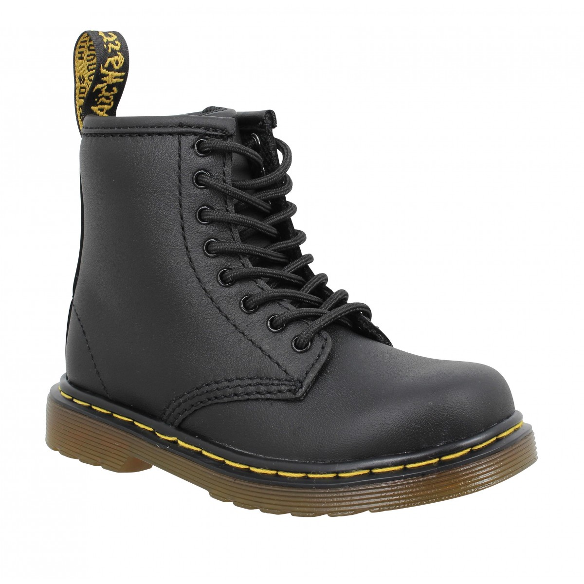 Bottines Dr MARTENS Brooklee cuir Enfant Noir