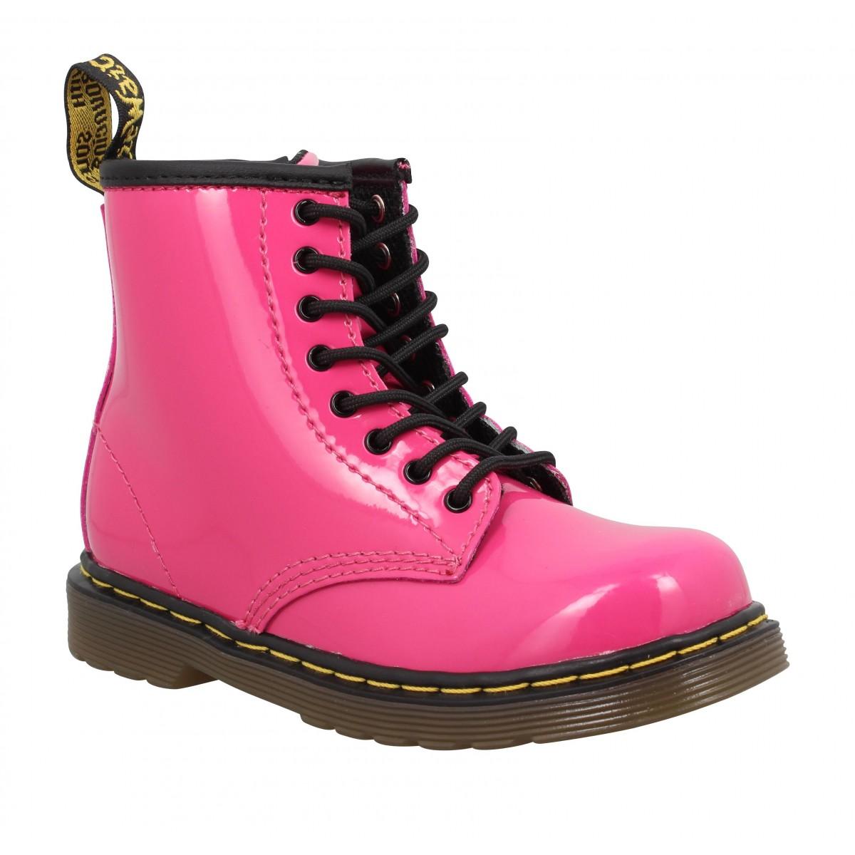 3a32431bd0d69 Bottines Dr MARTENS Brooklee vernis Enfant Pink