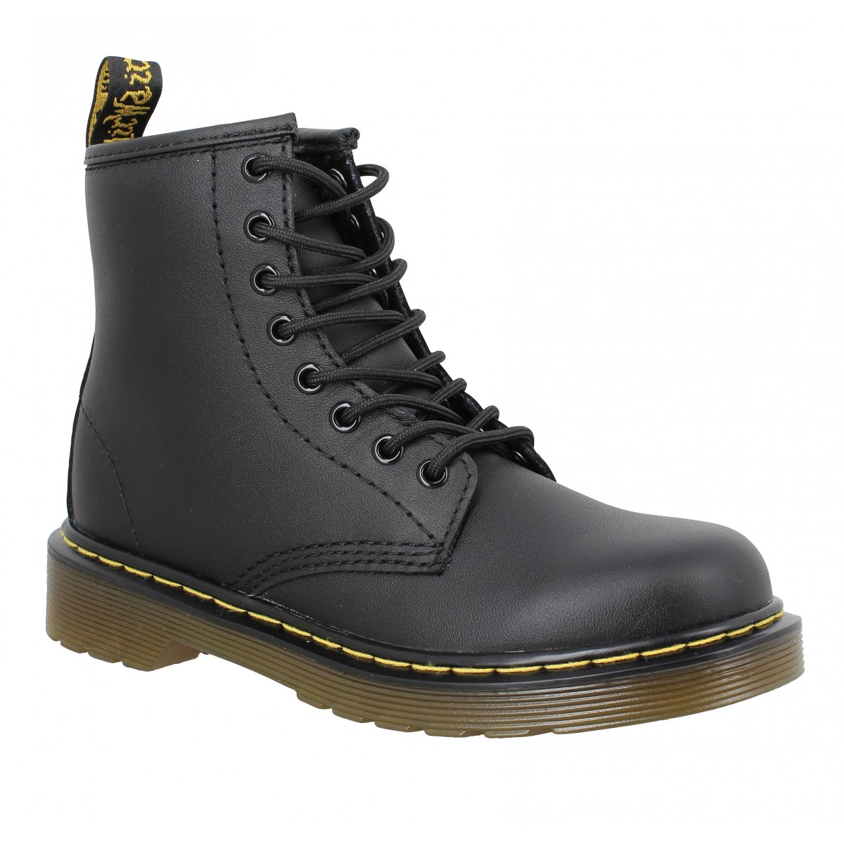 Bottines Dr MARTENS Delaney cuir Enfant Noir