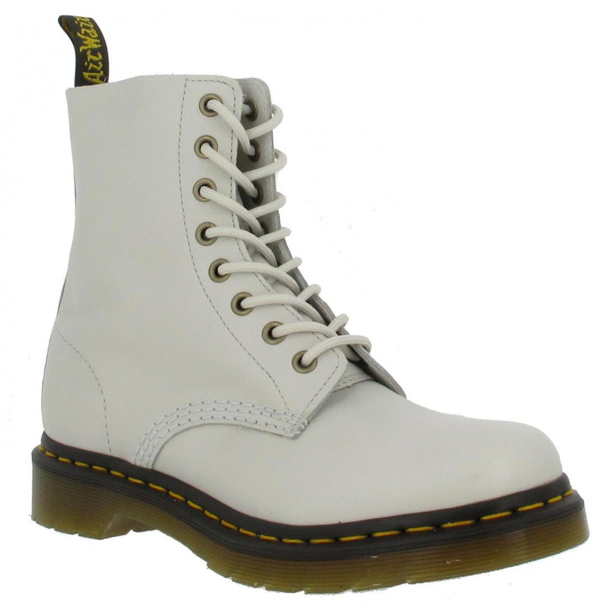 Bottines Dr MARTENS Pascal Boot 8 cuir Femme Off White