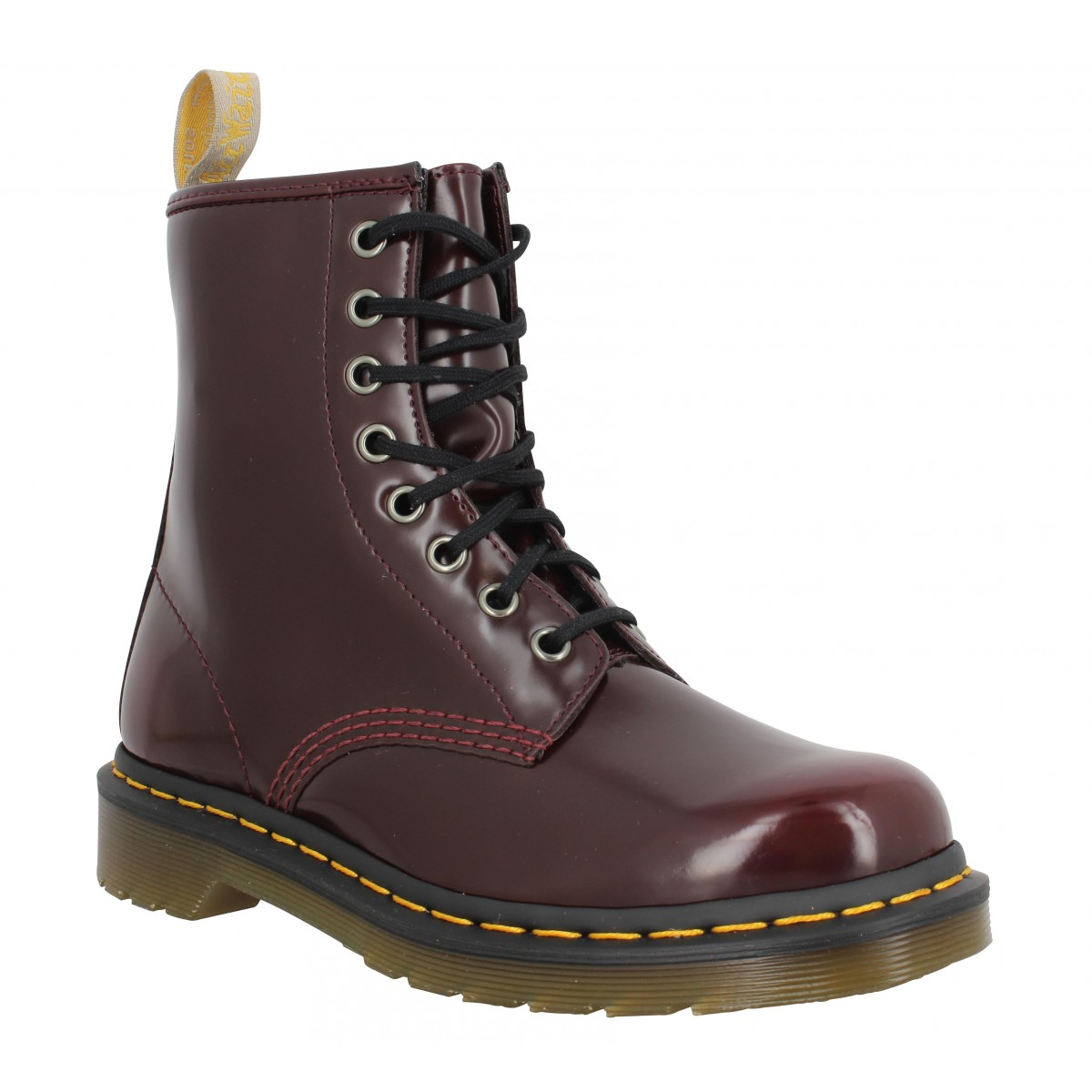Bottines Dr MARTENS Vegan 1460 simili Femme Cherry Red