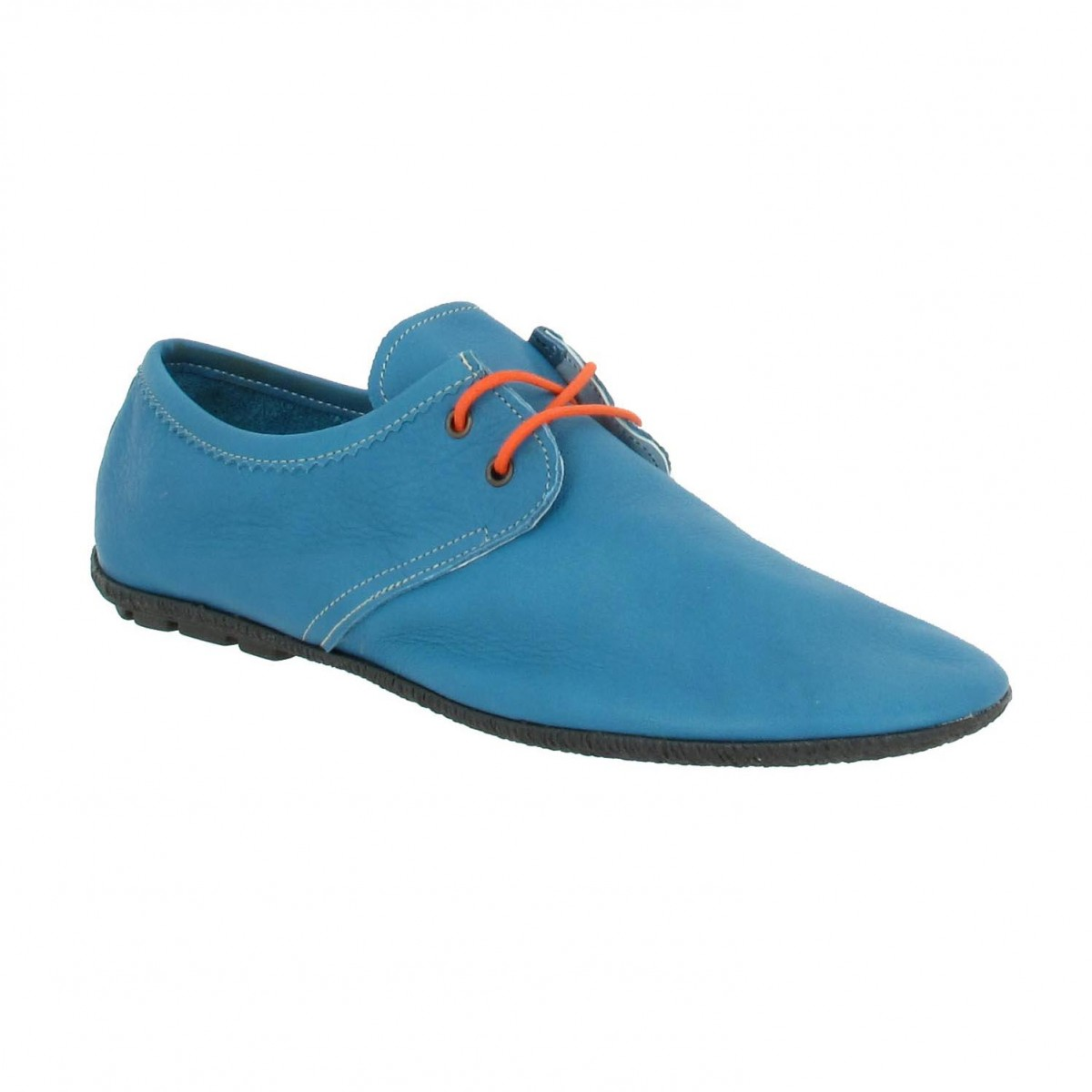 Femme 4999 By Meger Cuir Fanny TurquoiseChaussures ymNnOvwP80