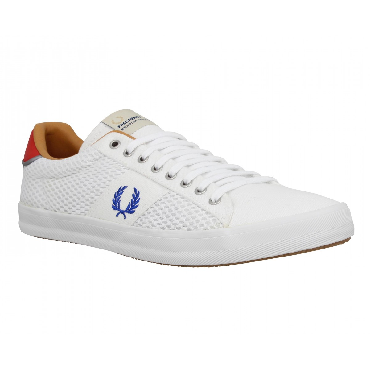 Baskets FRED PERRY Howells toile Homme Blanc