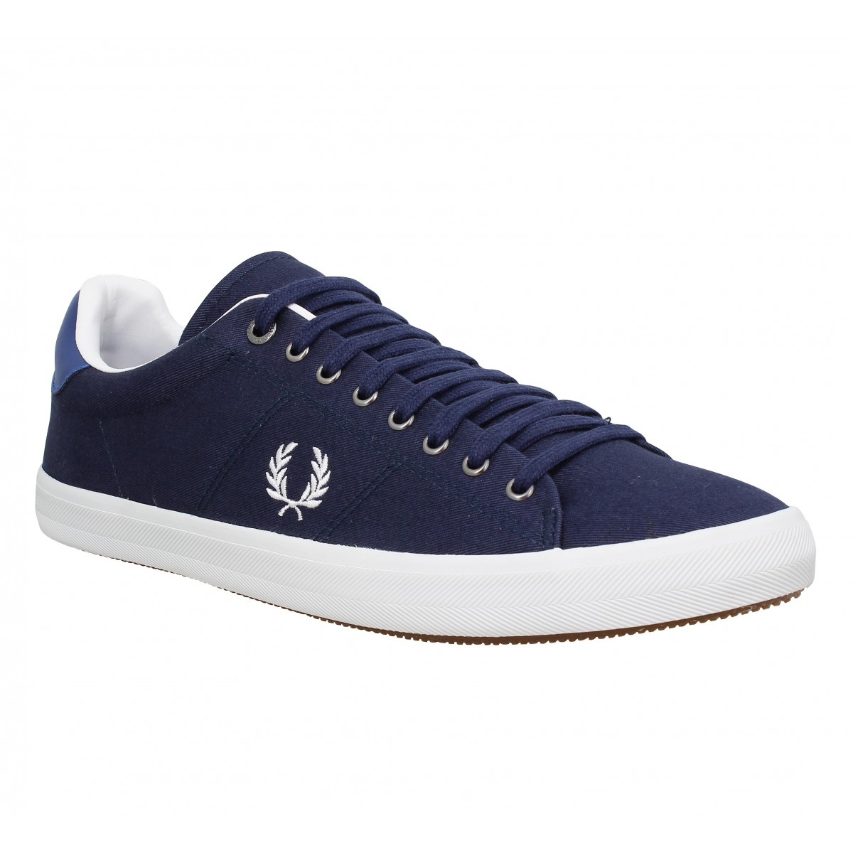 Baskets FRED PERRY Howells toile Homme Blue