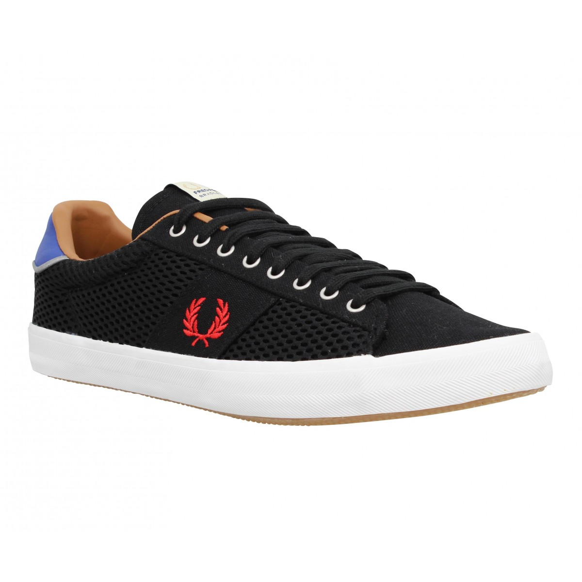 Baskets FRED PERRY Howells toile Homme Noir