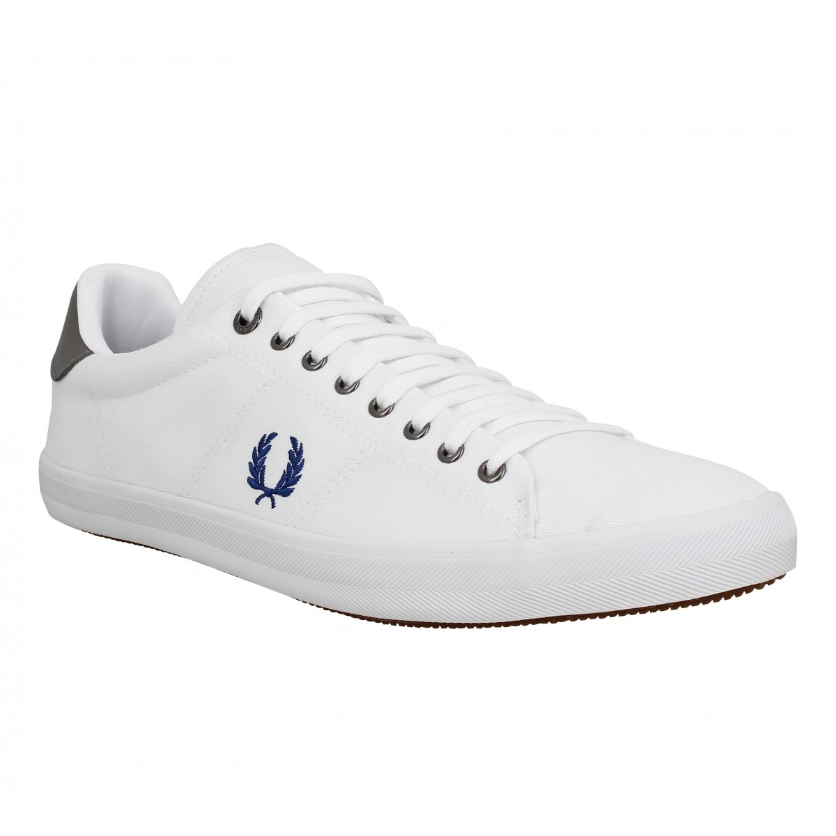 Baskets FRED PERRY Howells toile Homme White