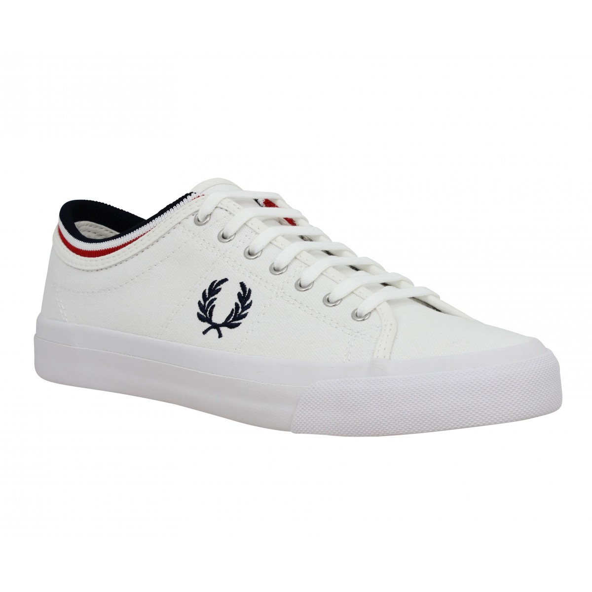 Baskets FRED PERRY Kendrick toile Homme Blanc