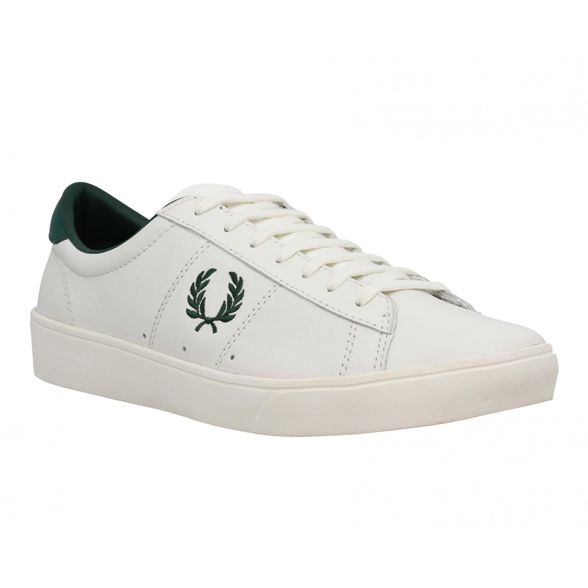 Baskets FRED PERRY Spencer cuir Homme Blanc