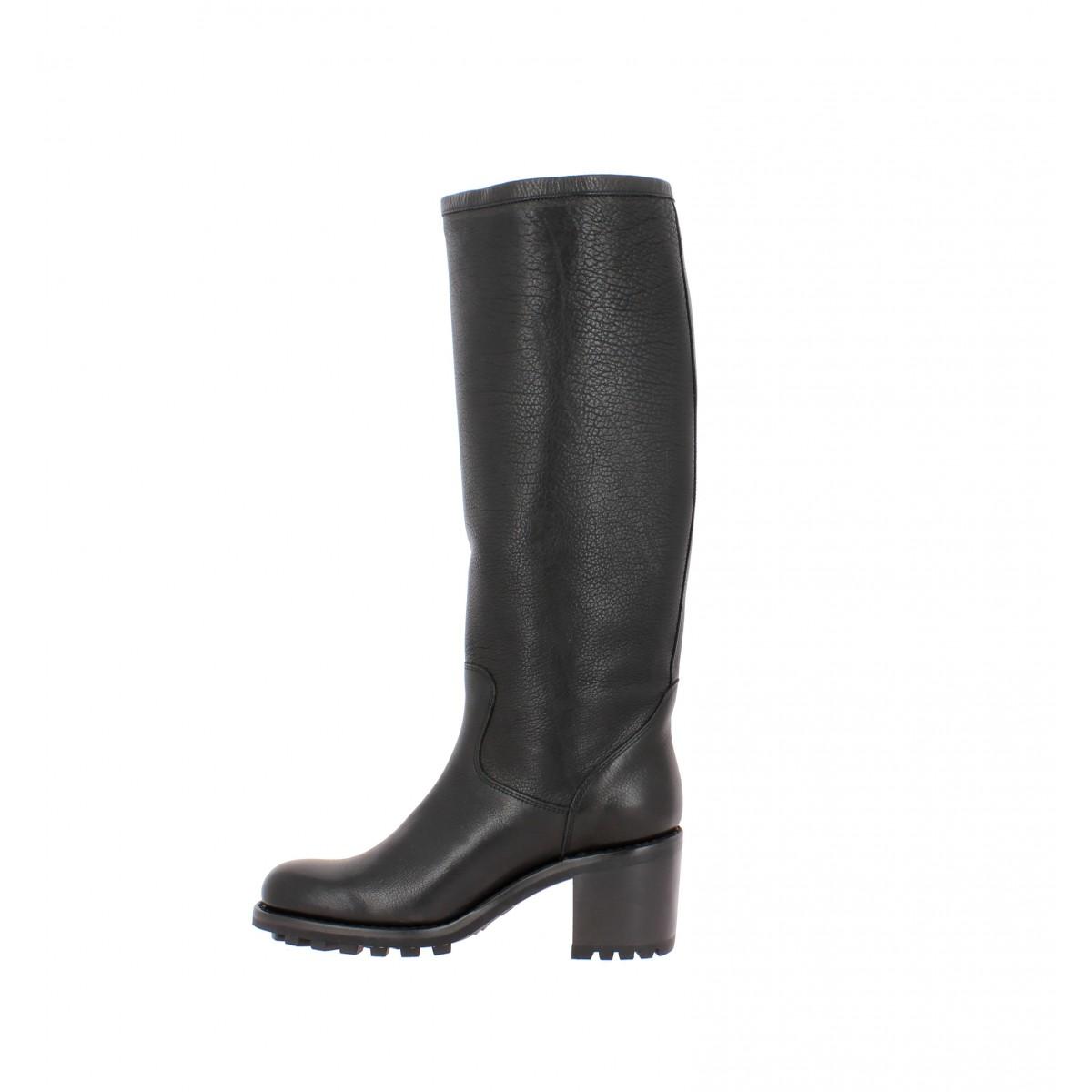 3ae4501da6df57 Free lance biker 7 geronimo cuir femme noir   Fanny chaussures