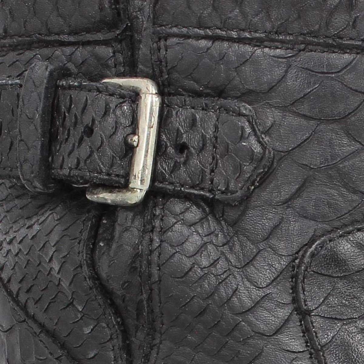 Femme Biker Diamente Small Noir Lance Chaussures 7 Wash Gero Free Awfx6p