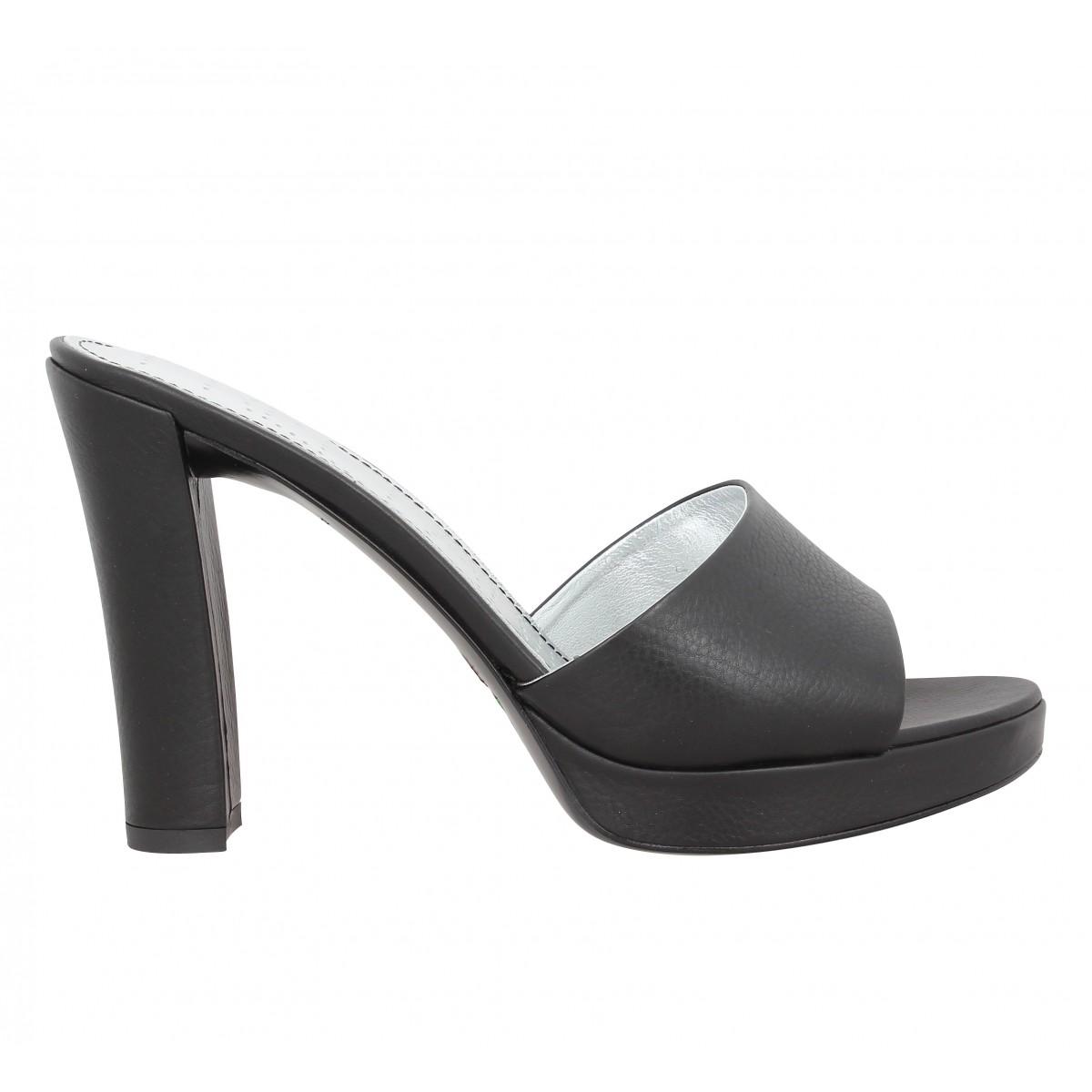 chaussures mules cuir femme. Black Bedroom Furniture Sets. Home Design Ideas