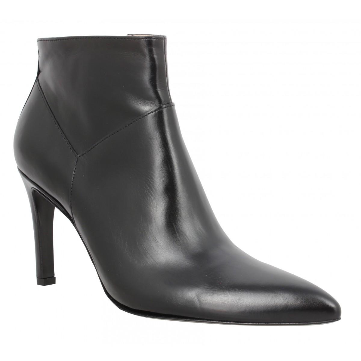 cuir Boot lisse Noir Zip FREE LANCE Forel Low 7 Femme NwO08nkPX