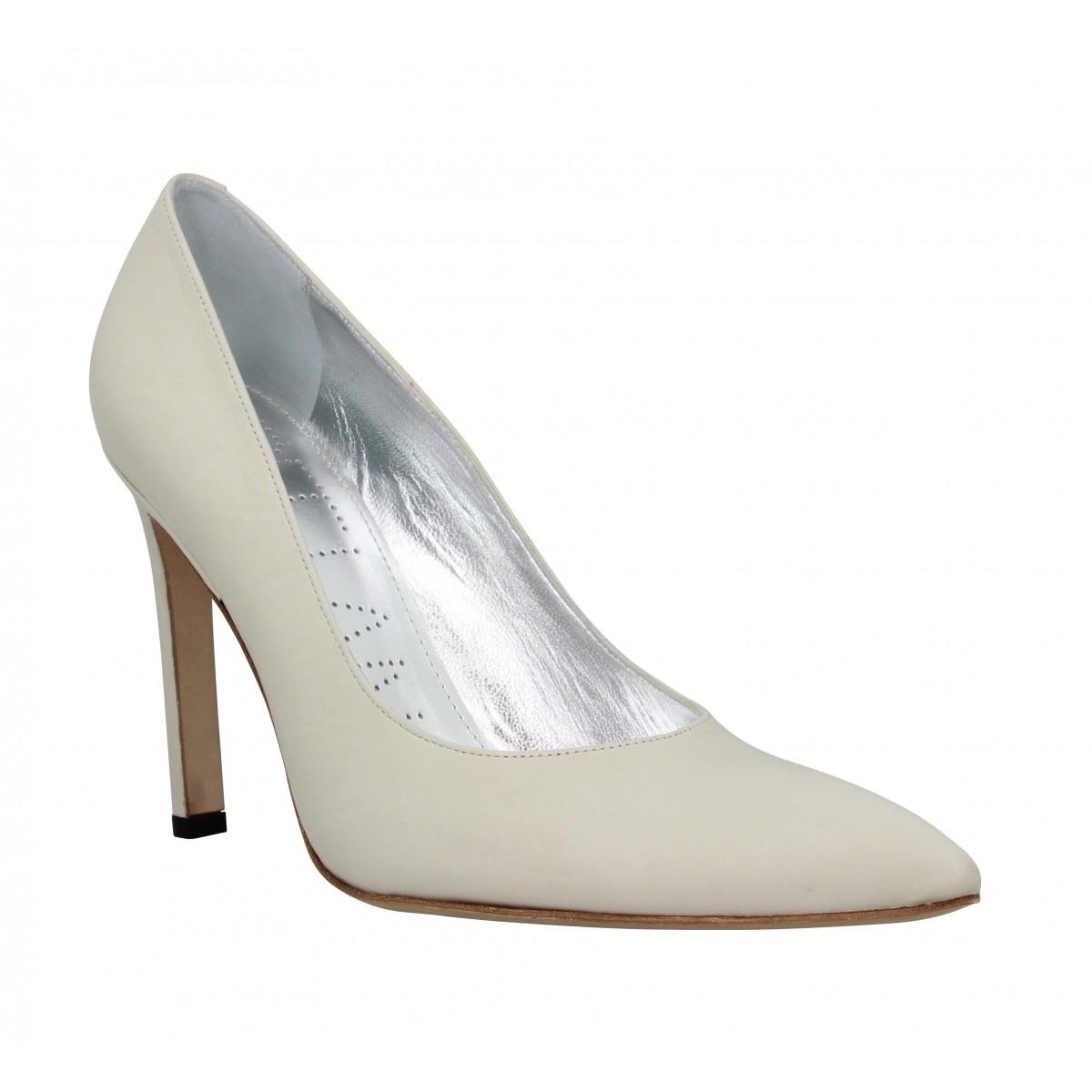 Lance 9 Chaussures Cuir Free Pumps CremeFanny Forel Femme HW9DYE2I