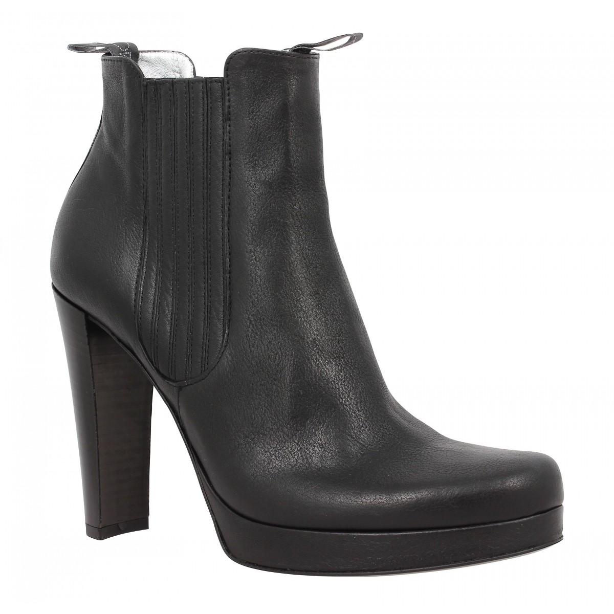 Bottines FREE LANCE Jana 7 Boot Elast cuir Femme Noir
