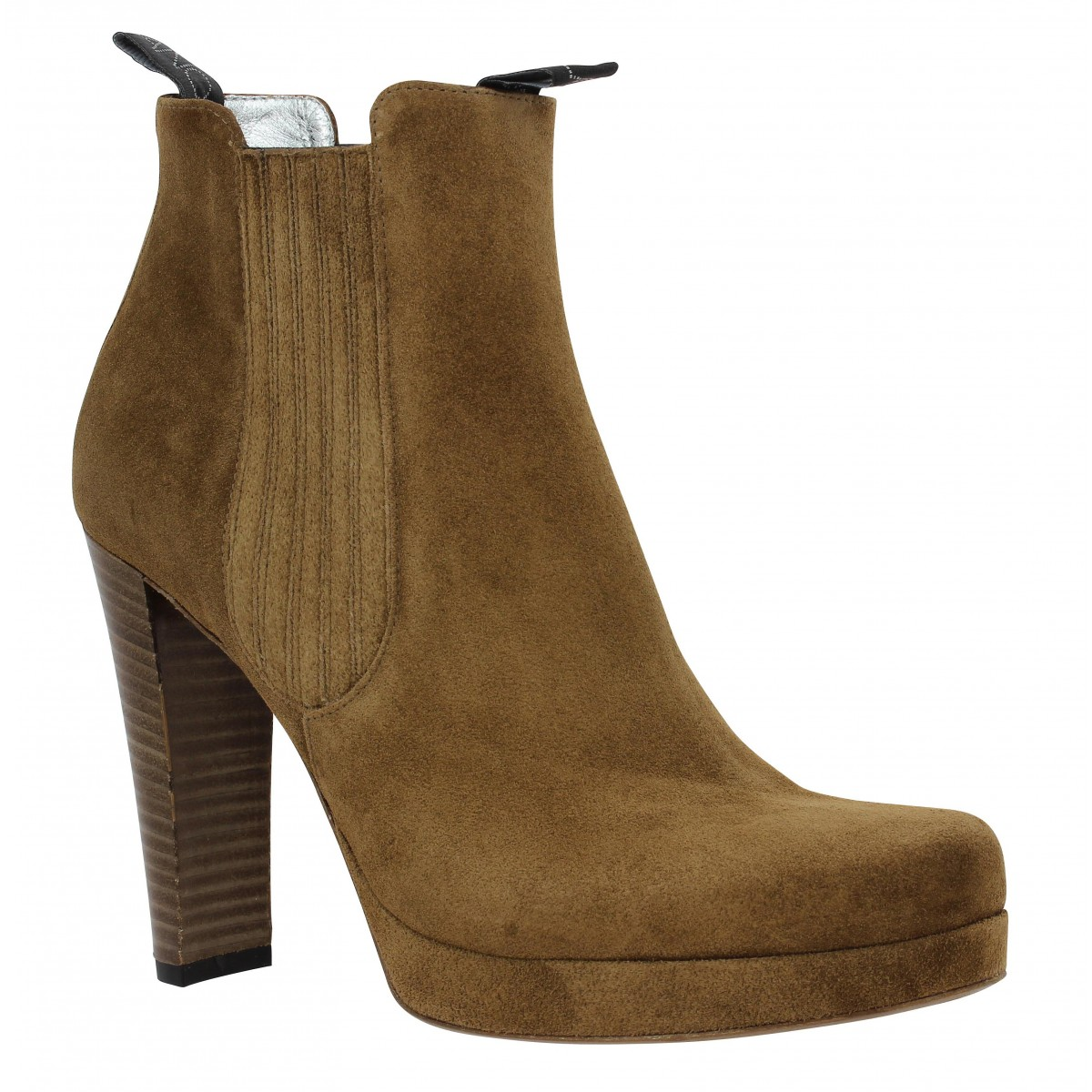 Bottines FREE LANCE Jana 7 Boot Elast velours Femme Cigare