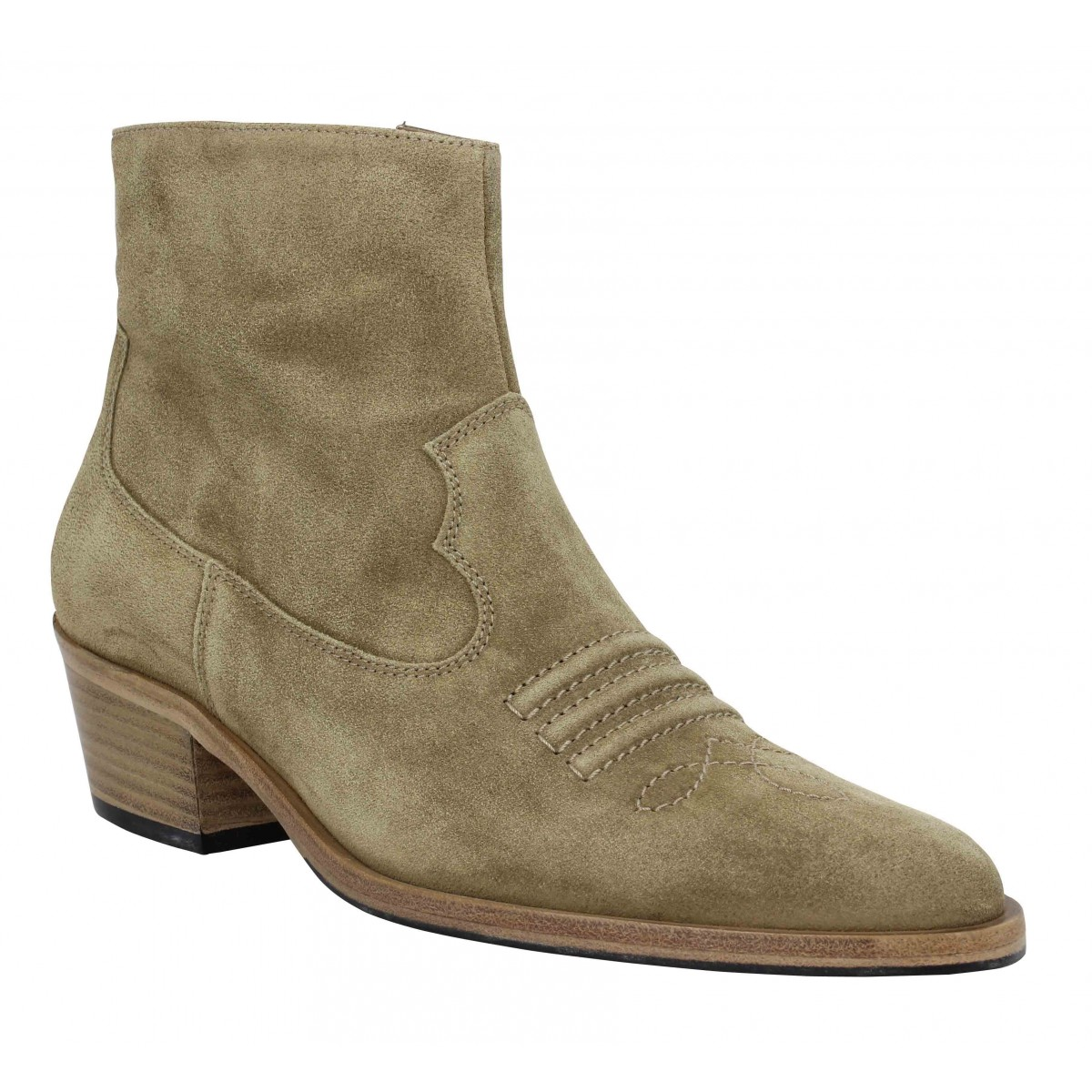 Bottines FREE LANCE Jane 5 West Zip Boot velours Femme Taupe