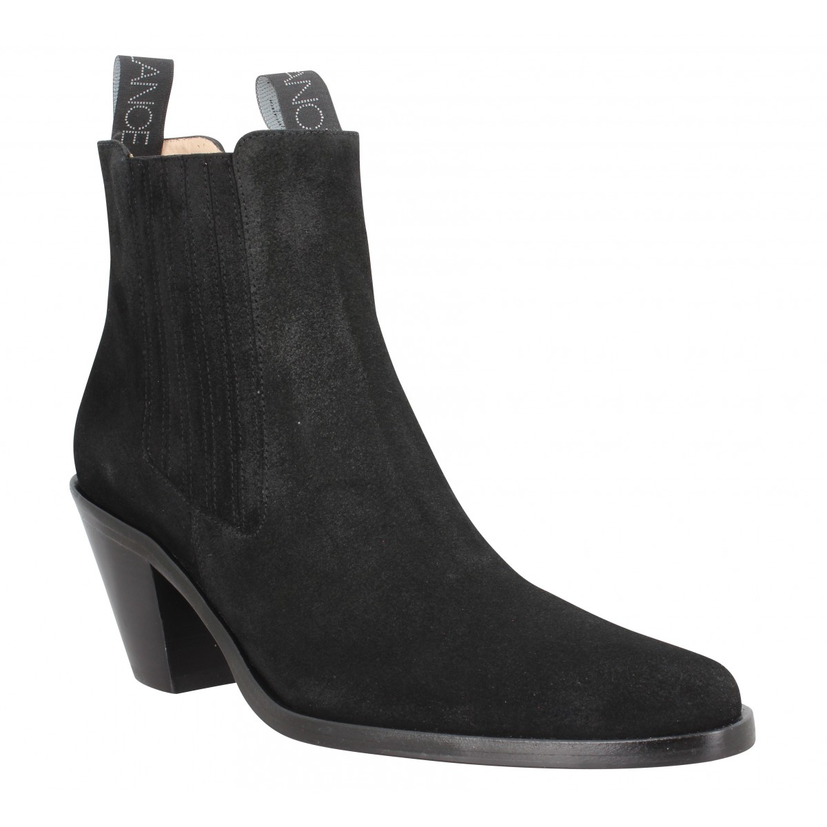 Bottines FREE LANCE Jane 7 Chelsea Boot velours Femme Noir