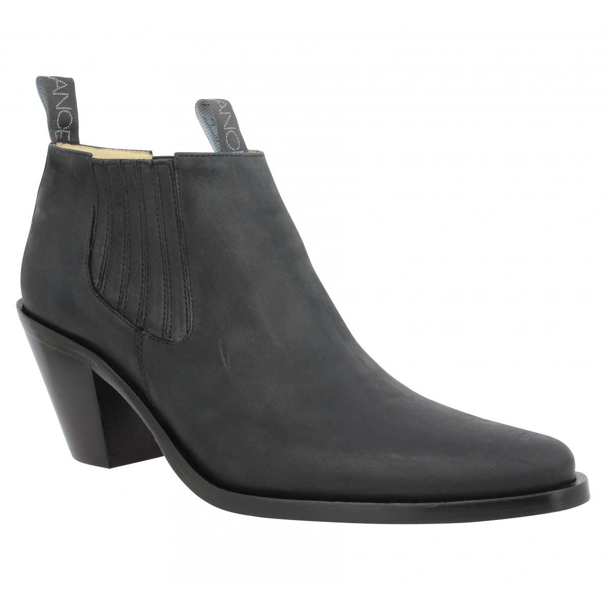 Bottines FREE LANCE Jane 7 Low Chelsea Boot cuir Femme Noir