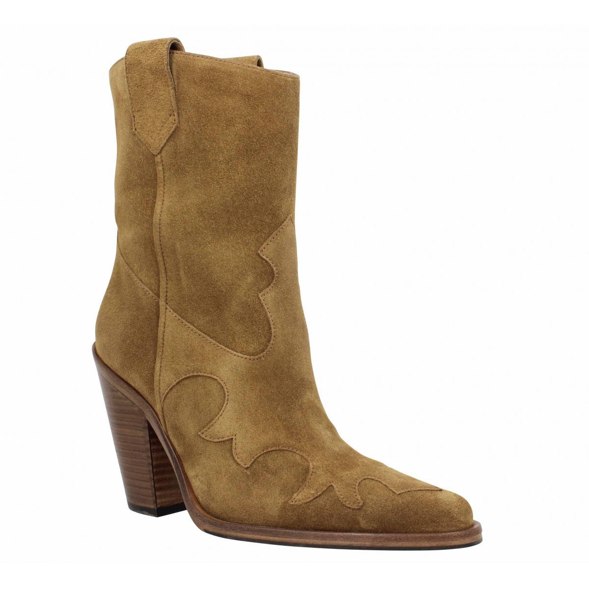 Bottines FREE LANCE Jane 9 West Mid Boot velours Femme Cigare