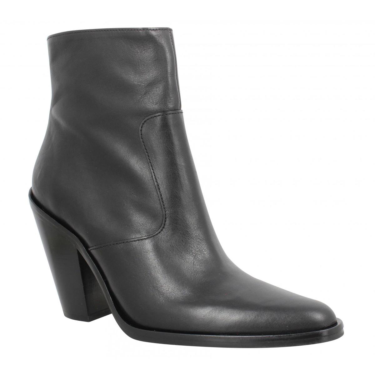 Cuir Jane Vegetal 9 Femme Zip Boot Noir Free Lance 7y6YgvIbf