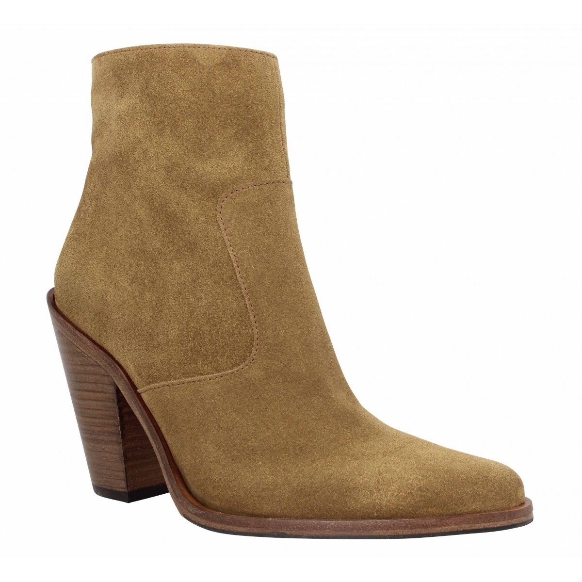 Bottines FREE LANCE Jane 9 Zip Boot velours Femme Cigare