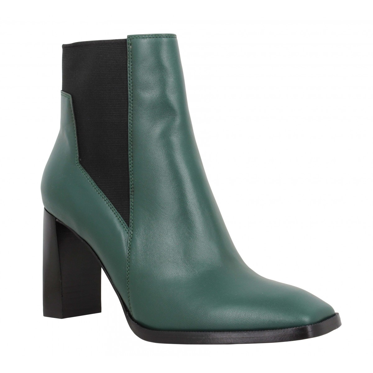 Bottines FREE LANCE July 8 Asymetrique Chelsea Boot cuir Femme Forest