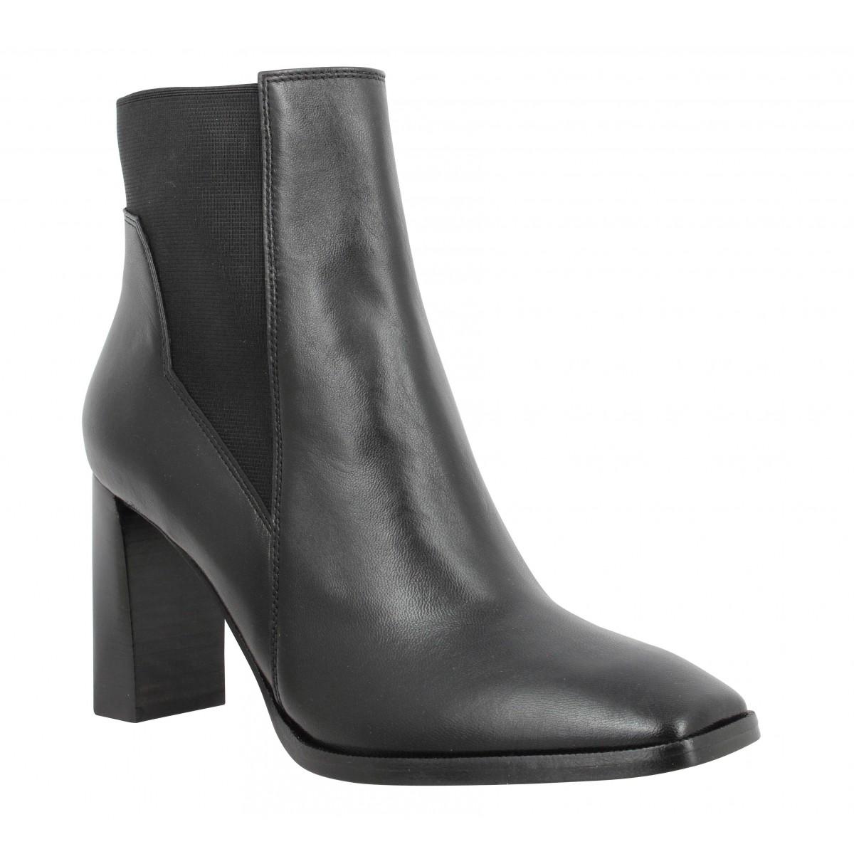 Bottines FREE LANCE July 8 Asymetrique Chelsea Boot cuir Femme Noir