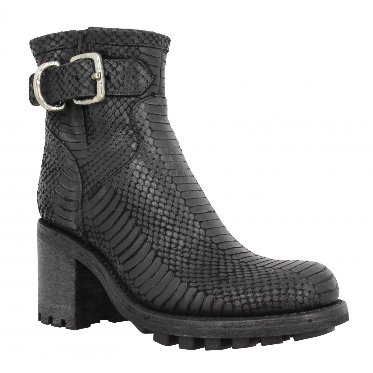 Bottines FREE LANCE Justy 7 Smalgero boiga wash Femme Noir