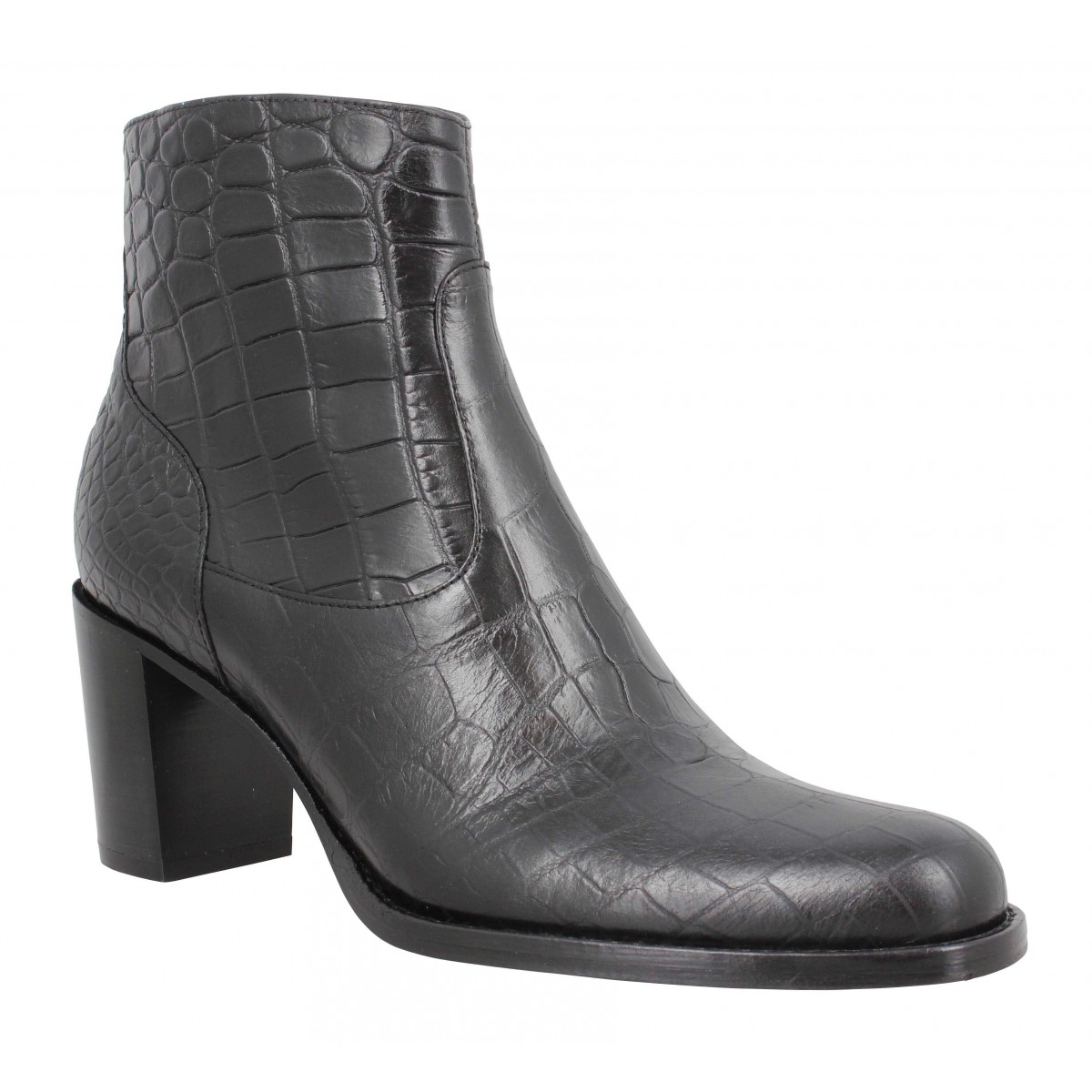 Bottines FREE LANCE Legend 7 Zip Boot croco Femme Noir